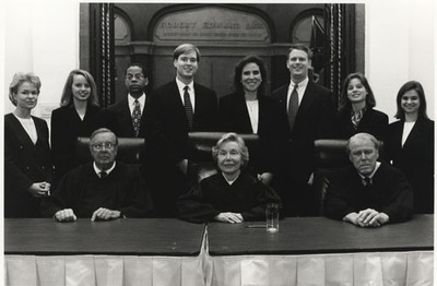 The bench and winners of the 1996 competition