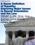 Law School Symposium to Address Sexual Orientation and the Law, February 4, 2008