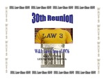 W&L Law Class of 1976 30th Reunion Scrapbook