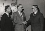 Dean Steinheimer greets Justice Lewis F. Powell Jr.