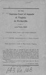 Virginia Iron, Coal and Coke Company v. A.L.P. Corder, Administrator of J.C. Perkey, deceased