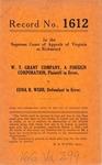 W. T. Grant Company v. Edna R. Webb