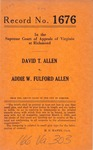 David T. Allen v. Addie W. Fulford Allen