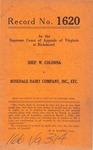 Shep W. Colonna v. Rosedale Dairy Company, Inc., etc.