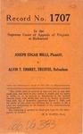 Joseph Edgar Mills v. Alvin T. Embrey, Trustee
