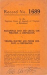 Massaponax Sand and Gravel Corporation v. Virginia Electric and Power Company, Inc.