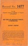 New York Life Insurance Company v. Elston V. Barton