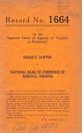 Sarah E. Sawyer v. National Bank of Commerce of Norfolk, Virginia