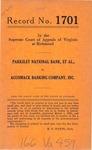 Parksley National Bank, et al., v. Accomack Banking Company, Inc.