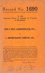 Reid I. West, Administrator of the Estate of Dayton Shorter, deceased v. L. Bromm Baking Company, Inc.