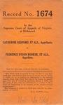 Catherine Redford, et al. v. Florence Dyson Booker, et al.