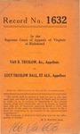 Van B. Truslow, etc. v. Lucy Truslow Ball, et al.