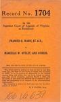 Frances O. Ward, et al. v. Marcelle W. Ottley, et al.