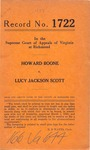 Howard Boone v. Lucy Jackson Scott