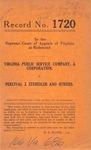 Virginia Public Service Company v. Percival J. Steindler, et al.