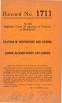 Grayson M . Whitehurst, et al. v. Annice Jackson White, et al.