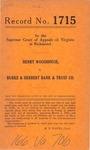 Henry Woodhouse v. Burke & Herbert Bank & Trust Company