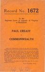 Paul Creasy v. Commonwealth of Virginia