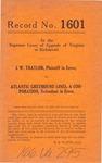 J. W. Traylor v. Atlantic Greyhound Lines