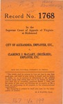 City of Alexandria, Employer, etc. v. Clarence J. McClary (Deceased), Employee, etc.
