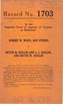 Robert W. Wood, et al. v. Hettie M. Quillin and J. J. Quillin