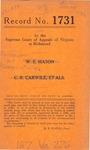 W. C. Mitchell, Jr. and W. E. Mason v. C. R. Carwile, et al.
