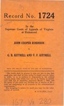John Cooper Robinson v. G. B. Kittrell and V. F. Kittrell