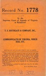 T. S. Southgate and Company, Inc. v. Commonwealth of Virginia