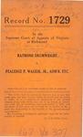 Raymond Drumwright v. Pealedge P. Walker, Jr., Administrator, etc.