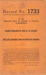 James Hargrove and R. H. Bland v. Nellie E. Harris and Randolph Harris