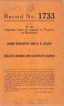 James Hargrove and R. H. Bland v. Nellie E. Harris and Randolph Harris