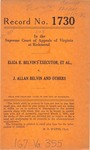 Eliza R. Belvin's Executor, et al. v. J. Allan Belvin, et al.