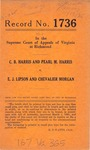 C. B. Harris and Pearl M. Harris v. E. J. Lipson and Chevalier Morgan