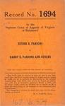 Esther B. Parsons v. Harry E. Parsons, et al.