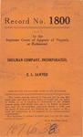 Shulman Company, Inc. v. E. L. Sawyer