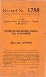 Citizens Mutual Building Association, Inc. v. Mrs. Karl C. Edwards