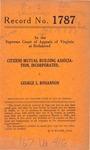 Citizens Mutual Building Association, Inc. v. George L. Bohannon