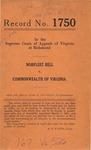 Norfleet Bell v. Commonwealth of Virginia