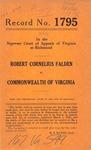 Robert Cornelius Falden v. Commonwealth of Virginia