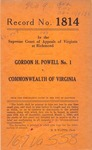 Gordon H. Powell v. Commonwealth of Virginia