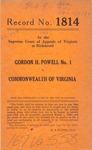 Gordon H. Powell v. Commonwealth of Virginia