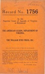 The American Legion, Department of Virginia v. The William Byrd Press, Inc.