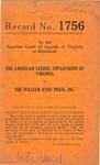 The American Legion, Department of Virginia v. The William Byrd Press, Inc.