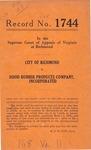 City of Richmond v. Hood Rubber Products Company, Inc.