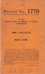 John G. Wallace, III v. Mary E. Jones