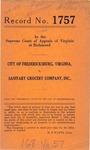 City of Fredericksburg, Virginia v. Sanitary Grocery Company, Inc.
