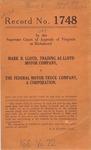 Mark R. Lloyd, t/a Lloyd Motor Company v. The Federal Motor Truck Company