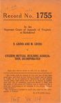E. Gross and M. Gross v. Citizens Mutual Building Association, Inc.