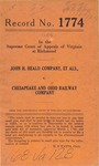 John H. Heald Company, Piedmont Mills, Inc., G. Bruning Tobacco Extract Company and Lynchburg Milling Company v. The Chesapeake and Ohio Railway Company