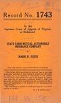 State Farm Mutual Automobile Insurance Company v. Marie H. Justis